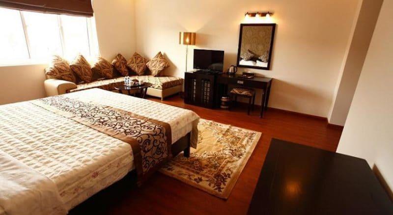 Phòng nghỉ khách sạn được trang bị đầy đủ tiện nghi hiện đại