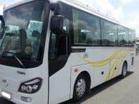 Dòng xe 35 chỗ của Thaco được nhiều du  khách lựa chọn