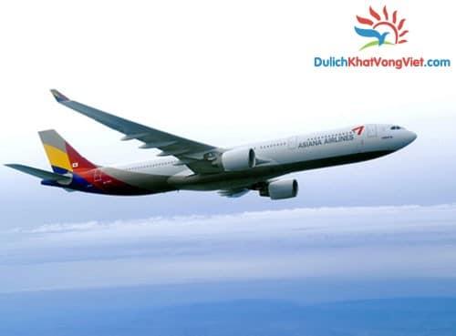 Máy bay Asian Airlines từ Đà Nẵng đi Seoul