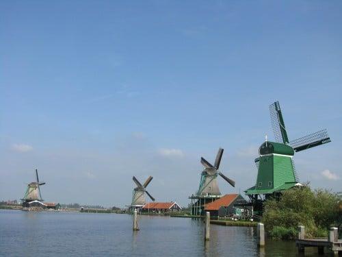 Những chiếc cối xay gió tại Zaanse Schans