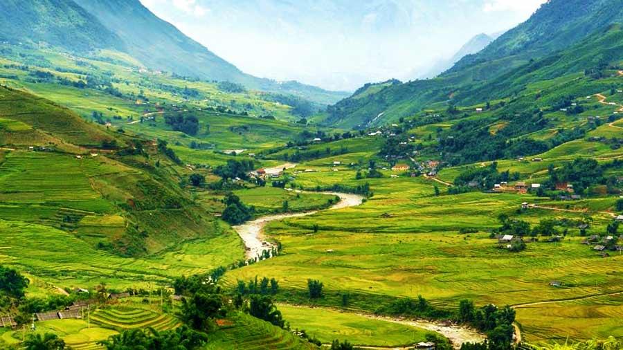 Thung lũng xanh tươi ngút ngàn tại Sapa