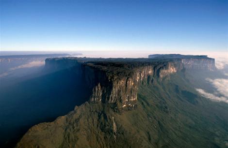 hình ảnh chụp từ xa của cao nguyên.