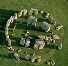 Vòng tròn đá Stonehenge nhìn từ trên cao.