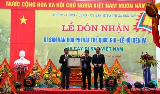 Lễ hội Đền Và đón bằng di sản văn hóa phi vật thể quốc gia