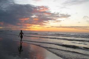 Hoàng hôn ở biển Sầm Sơn