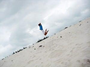 nhảy cát ở quan lạn