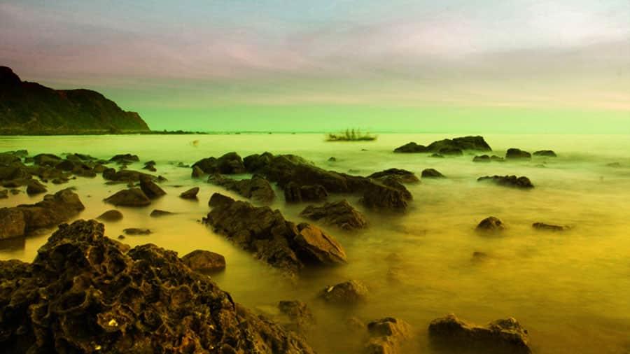Vẻ đẹp thơ mộng trên biển Bãi Lữ