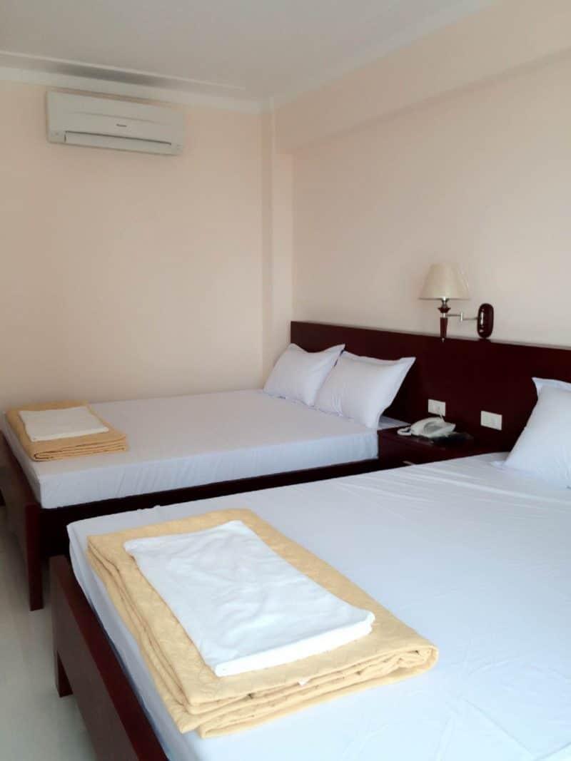 Phòng nghỉ thoáng mát, sạch sẽ đầy đủ các tiện nghi cơ bản