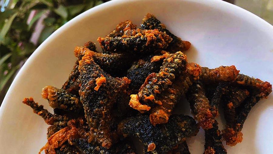 Rắn biển chiên giòn mang lại hương vị vô cùng đặc biệt