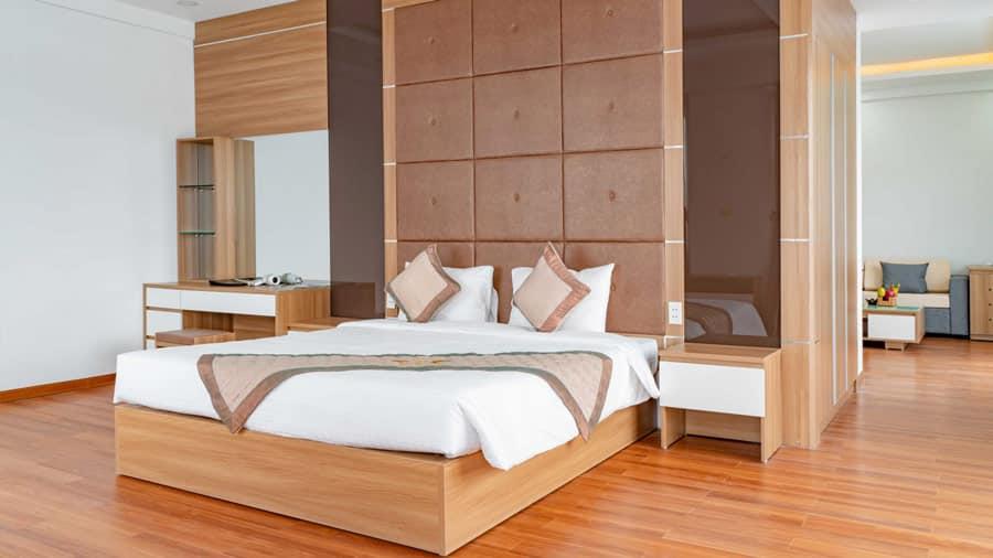 Phòng nghỉ tại khách sạn Draco Cát Bà chắc chắn sẽ không làm du khách thất vọng