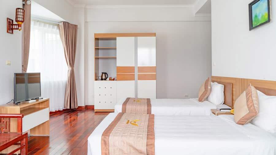 Không gian phòng ngủ rộng rãi, thiết kế hiện đại