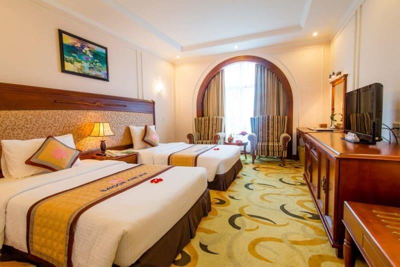 Phòng nghỉ hiện đại, tiện nghi tại Sài Gòn Kim Liên resort