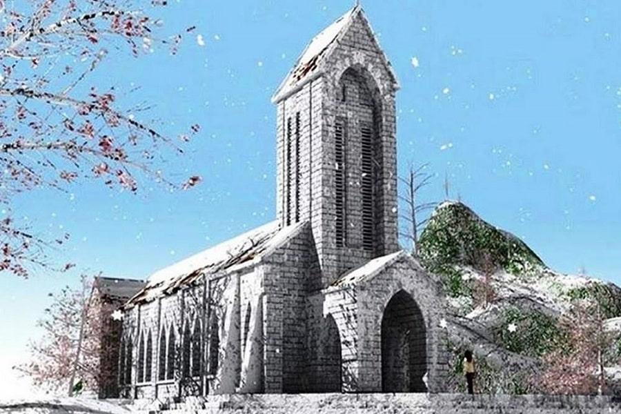 Nhà thờ Đá mùa đông đẹp ngỡ ngàng