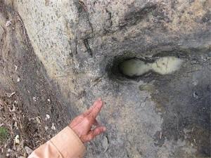 Vết chân trên núi Âm Tiên