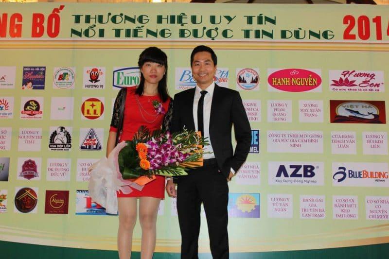 Giám đốc công ty Đặc Sản Việt Nam trong buổi lễ tôn vinh