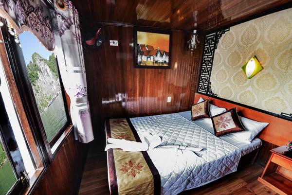 Phòng nghỉ trên tàu Fantasea với đầy đủ tiện nghi hiện đại