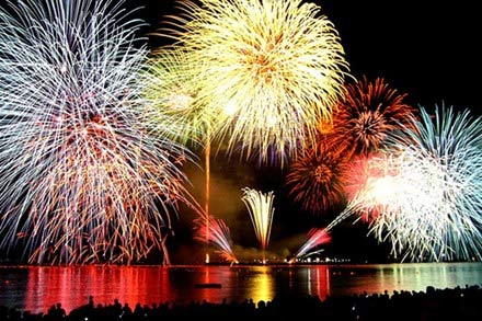 Pháo hoa trên cầu sông Hàn - Đà Nẵng
