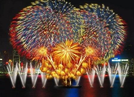 Pháo hoa rực rỡ trên sông Hàn