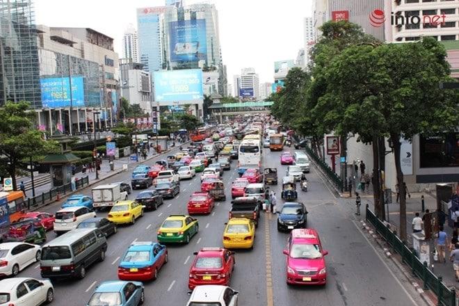 Taxi ở Bangkok rất sặc sỡ