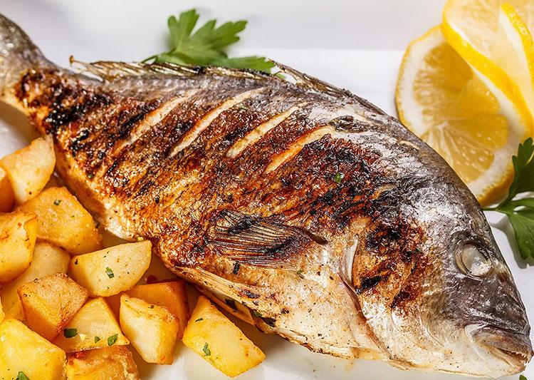 Cá tráp biển nướng muối, món ngon hấp dẫn đảo Cô Tô