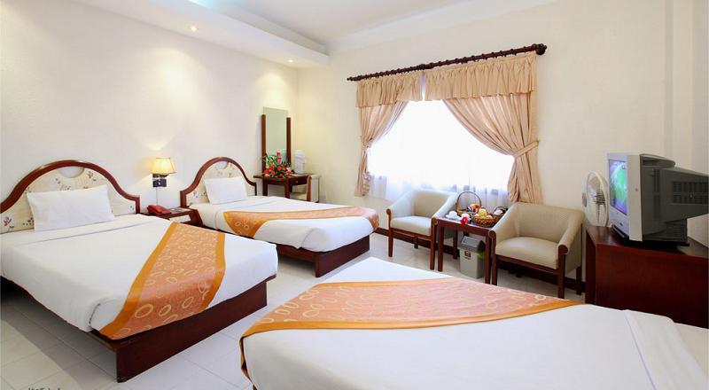 Phòng nghỉ khách sạn Thắng Lợi 1 rộng rãi, sạch sẽ