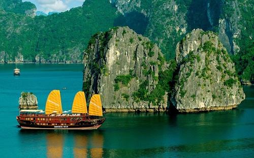 Vẻ đẹp của khung cảnh thiên nhiên vịnh Hạ Long