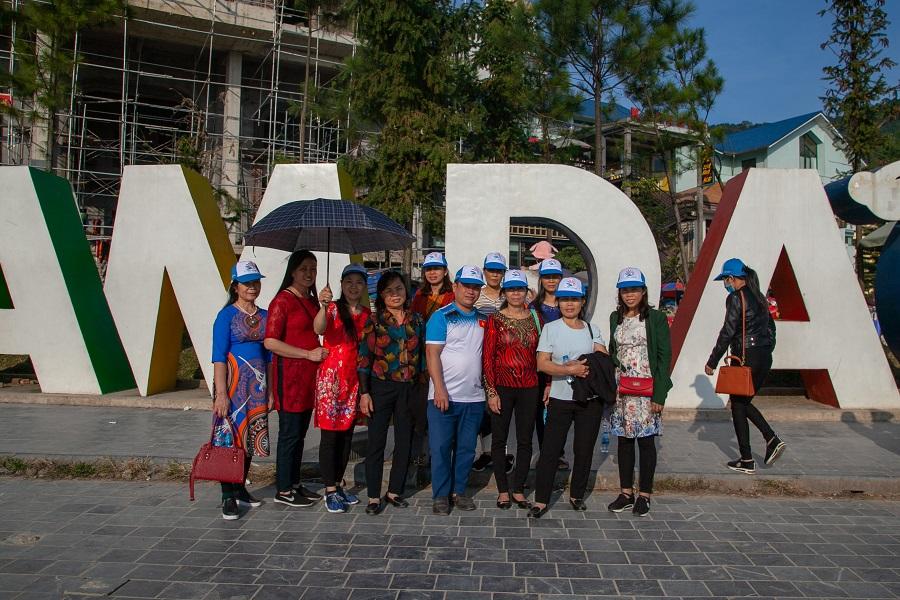 Du khách của Khát Vọng Việt check in tại Tam Đảo