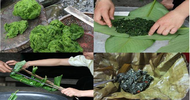 Rêu nướng - Đặc sản của người Tày ở Hà Giang