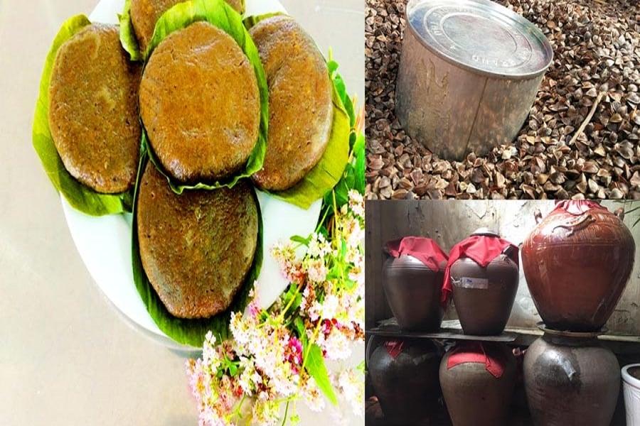 Đã lên đến khu vực miền nui thưởng thức bánh hoa Tam Giác Mạch mà ko uống kèm rươu Ngô thì quả là thiếu sót