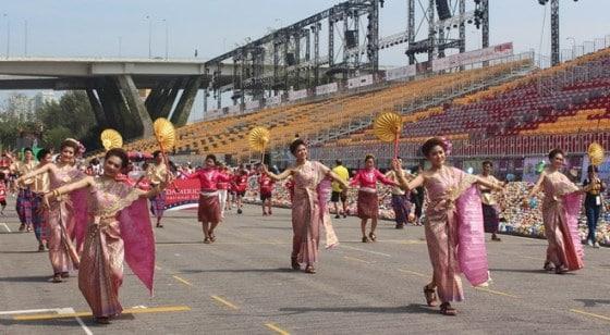 Không khí lễ hội Chingay trong dịp tiết nguyên đán ở Singapore