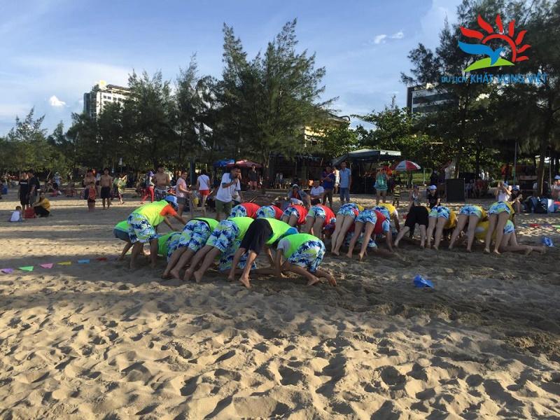 Teambuilding tại bãi biển đem lại những giây phút thư giãn thoải mái cho các thành viên