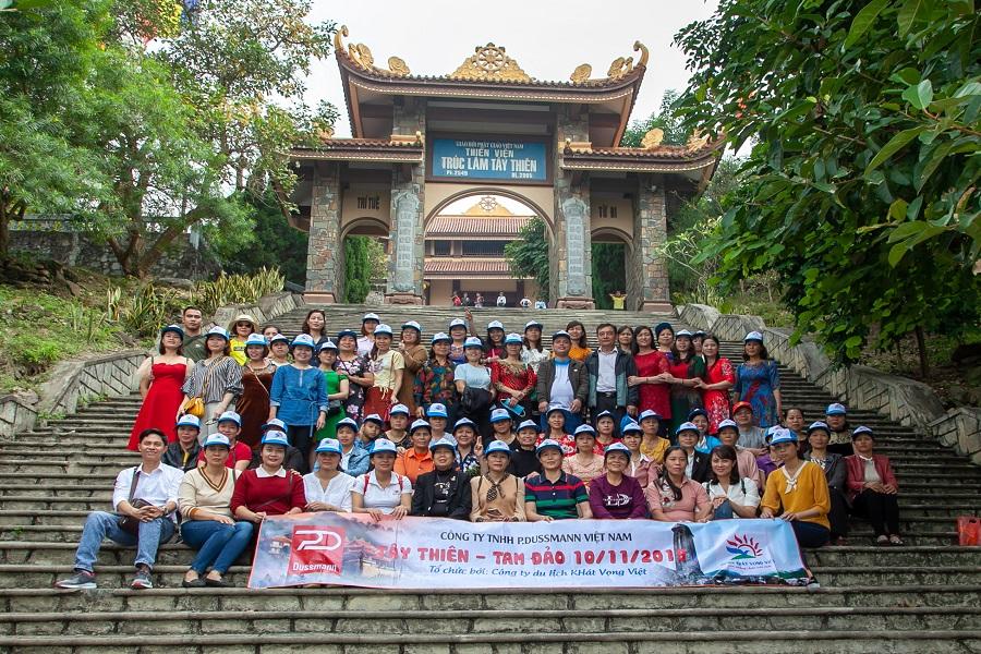 Đoàn Công ty TNHH P.Dusmann Việt Nam du lịch Tây Thiên - Tam Đảo