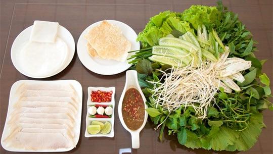 Bánh tráng thịt heo nổi tiếng Đà Nẵng