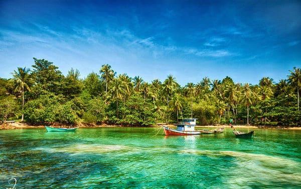 Khung cảnh thiên nhiên xinh đẹp của đảo Nam Du