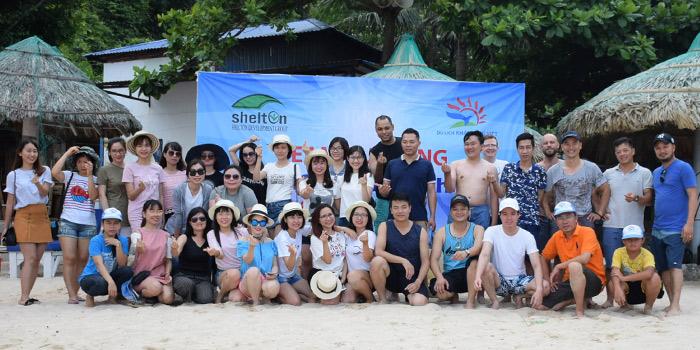 Đoàn trung tâm tiếng anh Shelton do công ty du lịch Khát Vọng Việt tổ chức