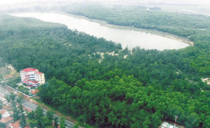 Thiên nhiên xung quang hồ Bàu Tró