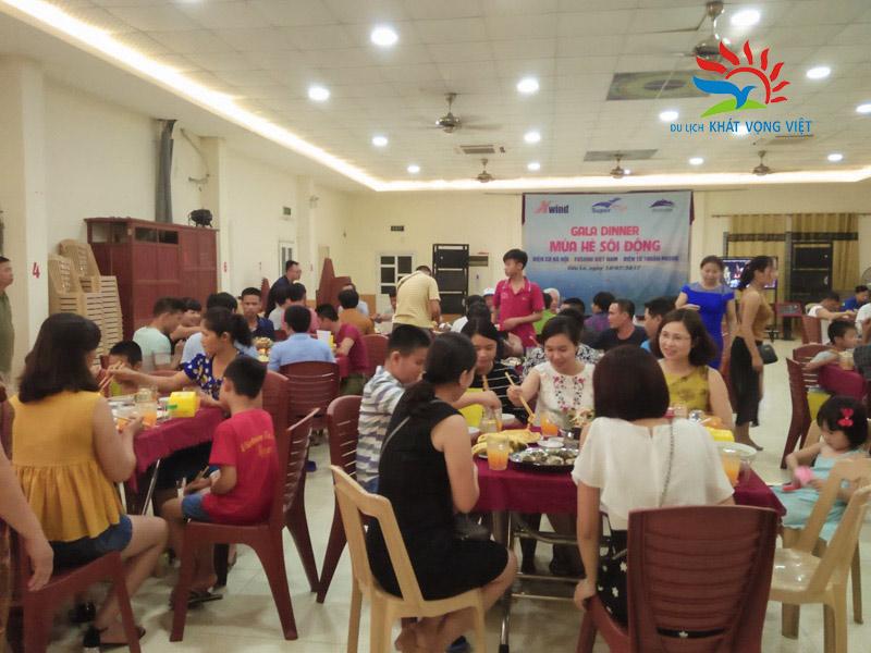 Phòng ăn uống, tổ chức gala của đoàn tại khách sạn