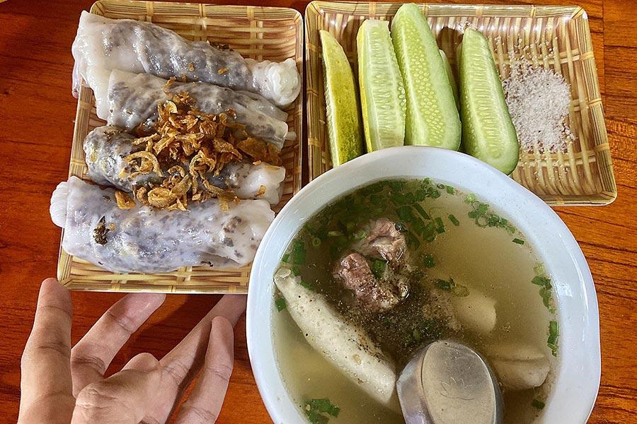Bánh cuốn Hà Giang có vị đặc trưng khác biệt