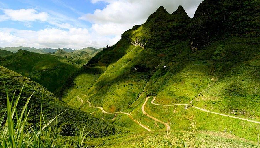 Một góc đường đèo tại Hà Giang