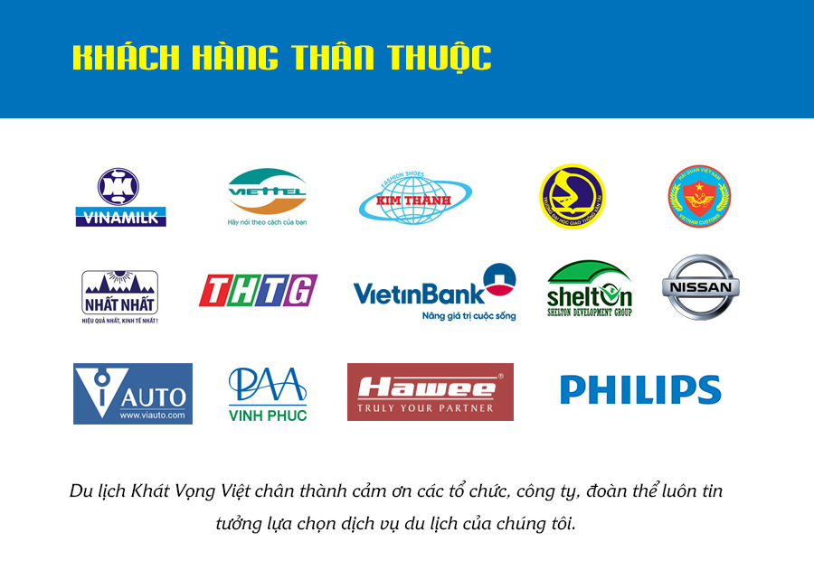 Khách hàng thân thuộc của du lịch Khát Vọng Việt