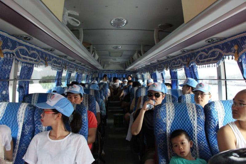 Đoàn trên xe khởi hành từ Hà Nội đi Hạ Long