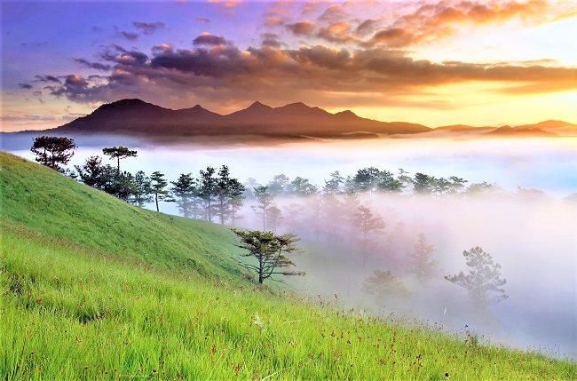 Cảnh đẹp thiên nhiên nơi cao nguyên Langbiang.