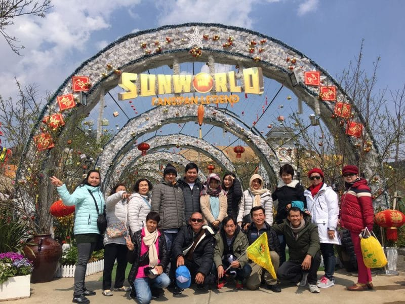 Đại gia đình chị Thủy du lịch Sapa do du lịch Khát Vọng Việt tổ chức