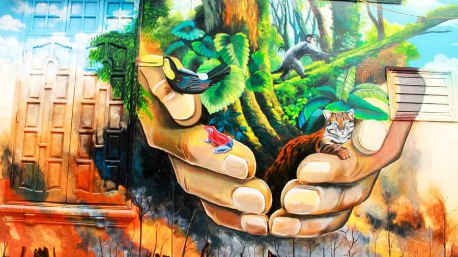 Bức họa với thông điệp bảo vệ môi trường