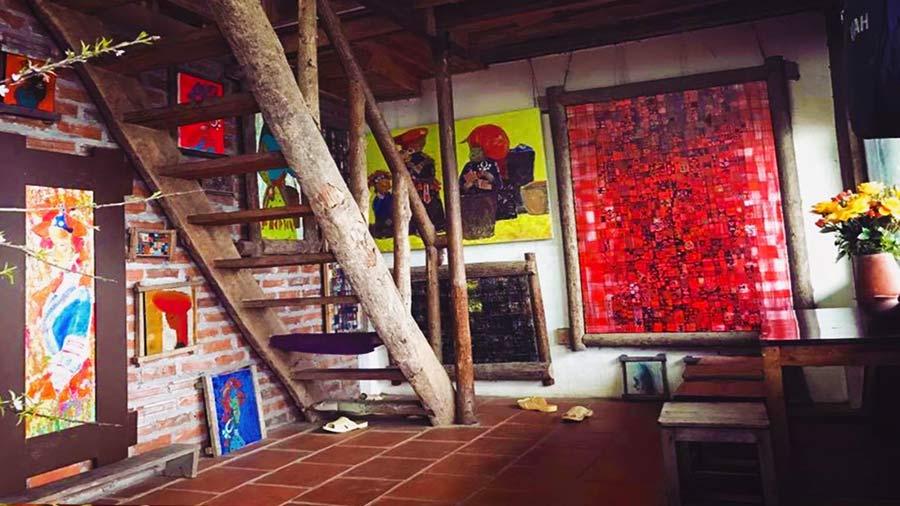 Homestay kết hợp không gian nghệ thuật độc đáo