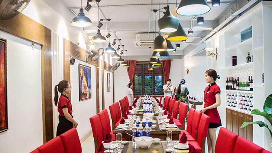 Không gian san trọng của nhà hàng