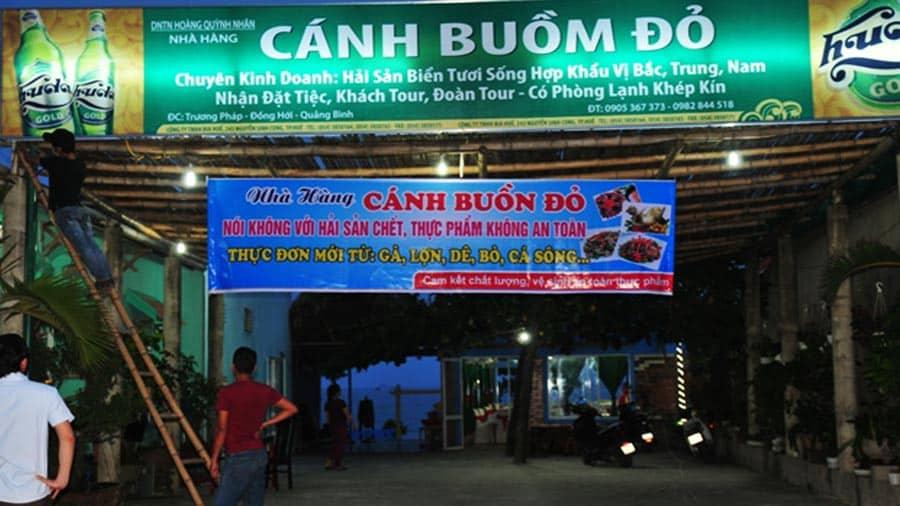 Nhà hàng Cánh Buồm Đỏ Quảng Bình
