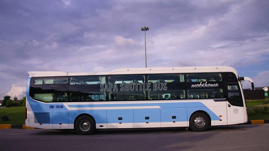 Xe khách chạy tuyến Hà Nội - Sapa