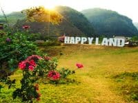 Happy Land Mộc Châu xinh đẹp
