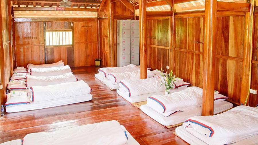 Nội thất nhà sàn tiện nghi, ấm cúng tại Mộc Châu Arena Village